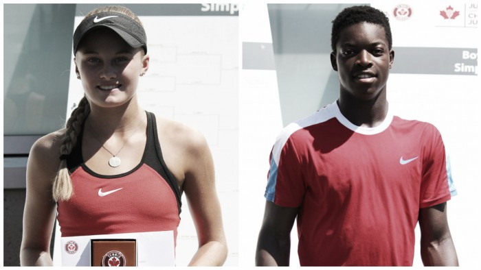 U18 Canadian Junior Nationals: 15-year-olds Layne Sleeth, Nicaise Muamba crowned singles champions