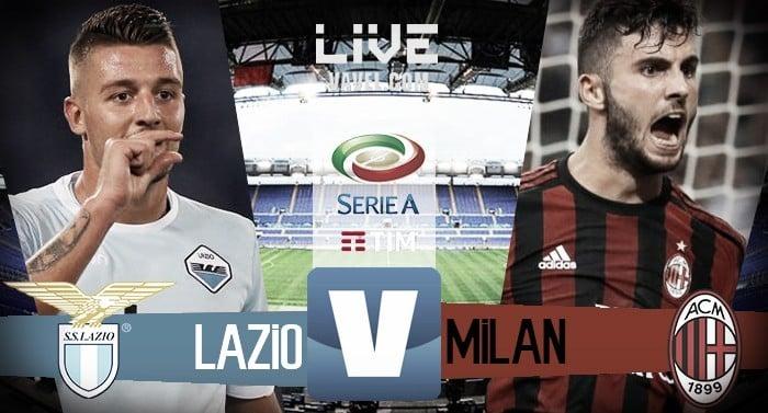 Resultado Lazio x Milan pela Serie A 2017/18 (4-1)