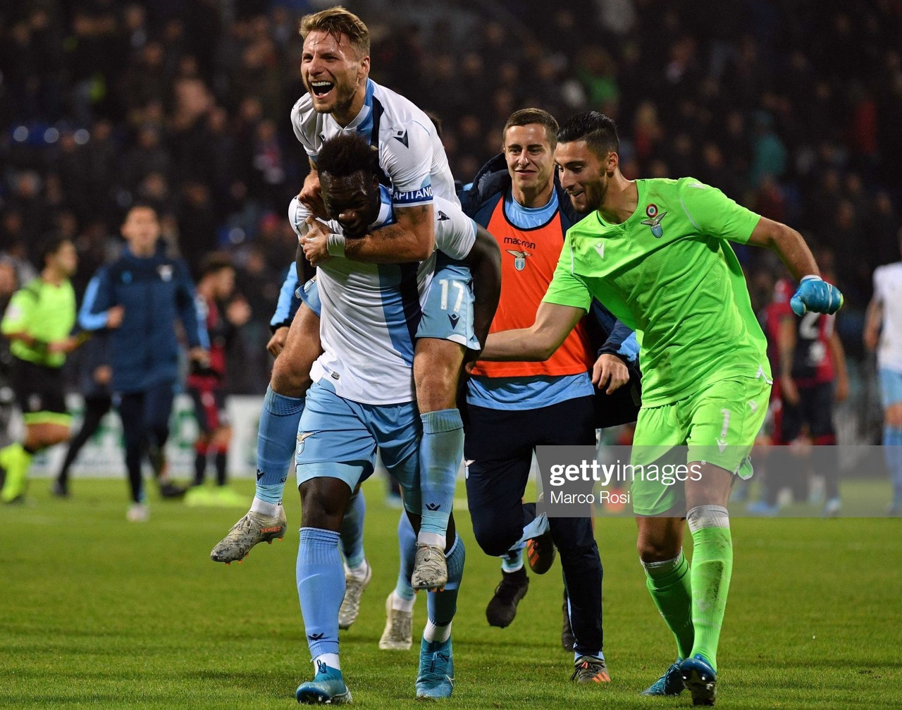 Cagliari 1-2 Lazio: Lazio score twice late into injury time