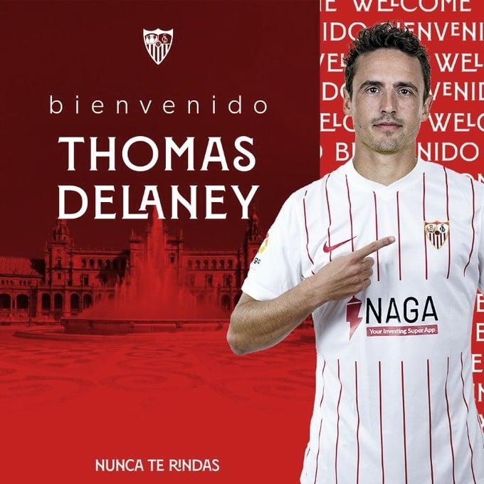Delaney, refuerzo de lujo para la medular del Sevilla