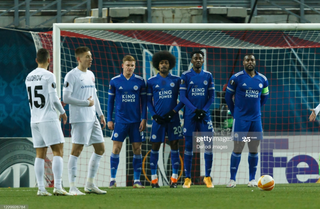 Leicester City made nine changes for the match in Ukraine which included several key players returning from injury | Photo: Getty/  DeFodi Images