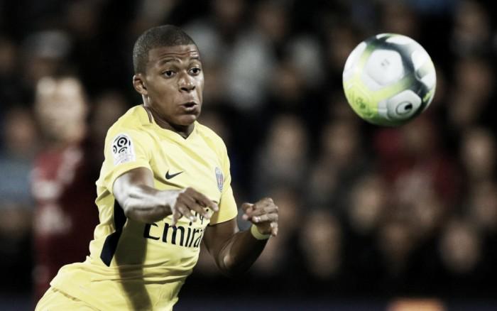 Ligue One: Mbappè segna al debutto, sono 7 per Cavani, il Psg batte il Metz in trasferta (1-5)