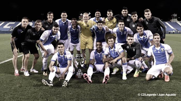 Leonardo salva al Leganés y le da el Trofeo Villa de Leganés