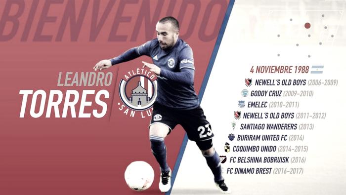 Leandro Torres es nuevo refuerzo del Atlético de San Luis