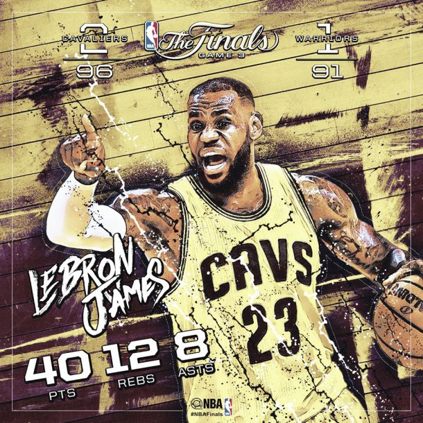 LeBron domina, Cleveland si aggiudica gara-3
