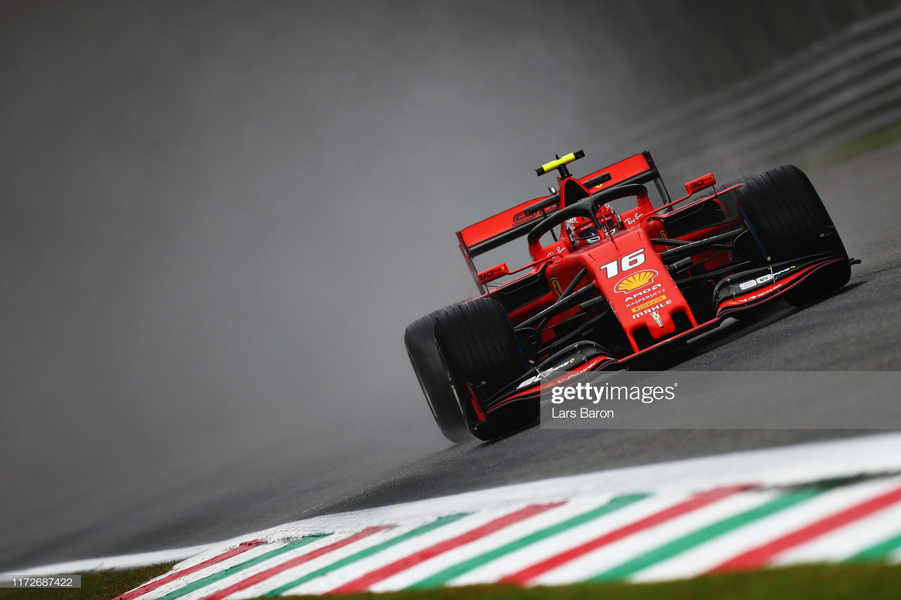 Leclerc quickest in tricky FP1