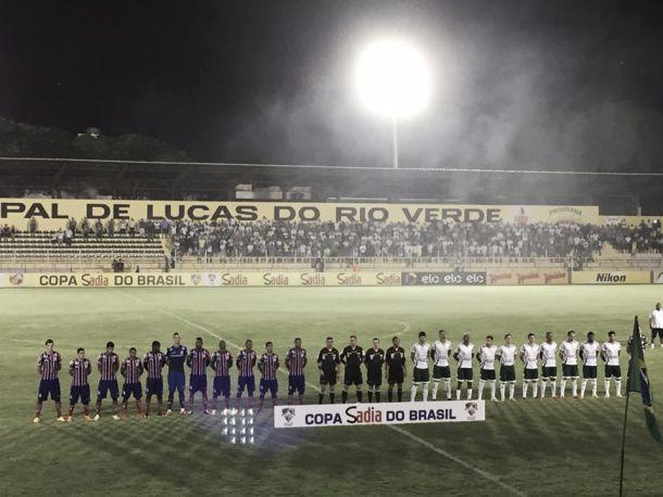 Luverdense e Bahia falham na pontaria e empatam sem gols