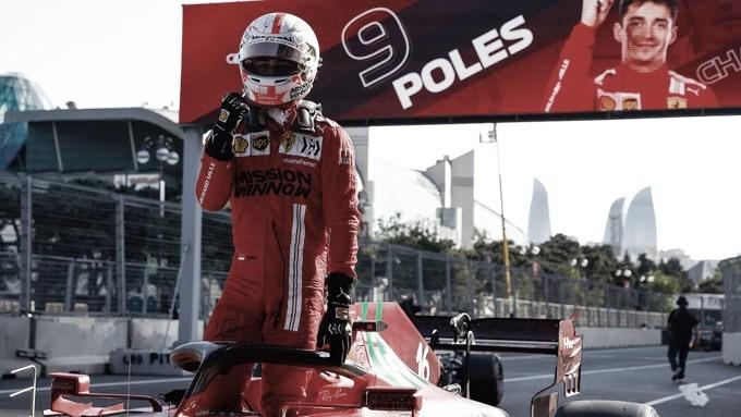 Loca pole para Leclerc en las calles de Baku