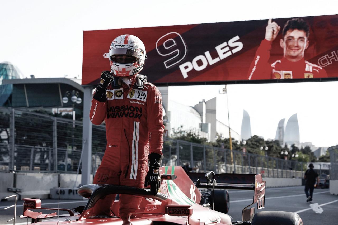 Charles Leclerc conquista pole para o GP do Azerbaijão em condições parecidas a Mônaco