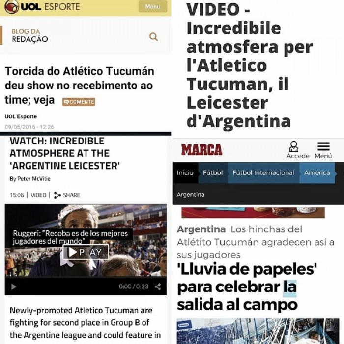 Atlético Tucumán es internacional