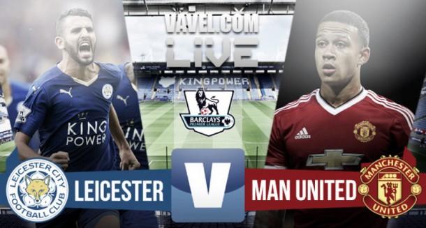 Resultado del Leicester vs Manchester United de Premier League 2015 (1-1)