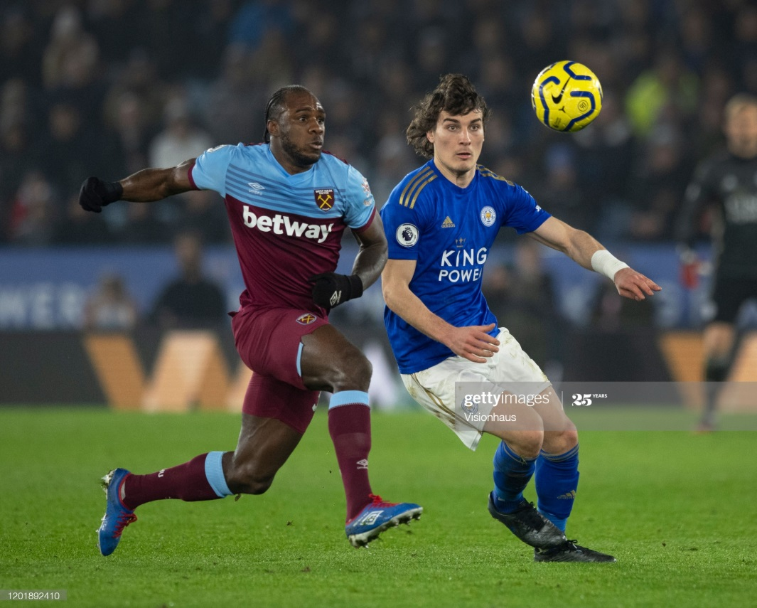 Michail Antonio and Caglar Soyuncu are sure to play at the King Power Stadium on Sunday | Photo: Getty/ Visionhaus
