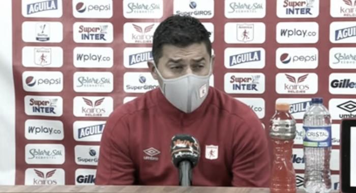 """Leonardo Felicia: """"Jugamos un buen partido, nos faltaron cosas, pero fue un partido parejo"""""""