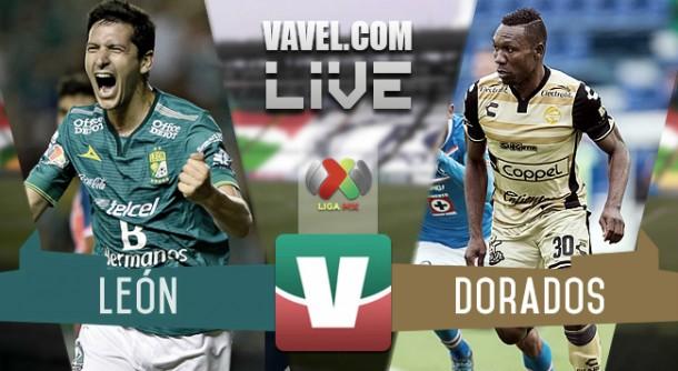 Resultado León - Dorados en Liga MX 2015 (3-0)