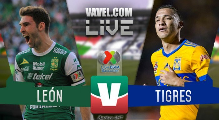 Tigres vs Club León en Liga MX 2017 (1-1) Global (2-2)