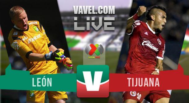 Resultado León vs Xolos Tijuana en Liga MX 2015 (6-2)