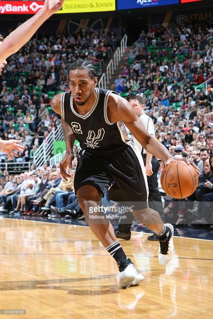 Cuando Leoanrd está inspirado, los Spurs dejan de ser terrenales