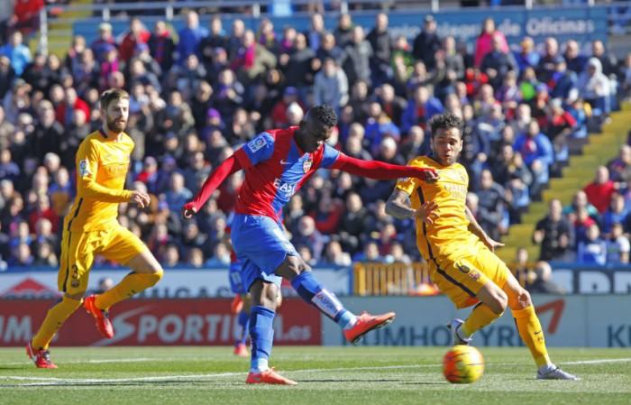 Levante UD – FC Barcelona: puntuaciones del Levante UD, jornada 21 de la liga BBVA