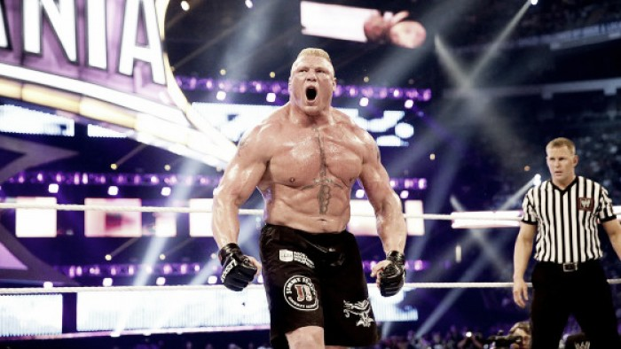 Who is rumored to face Brock Lesnar at WrestleMania 32?