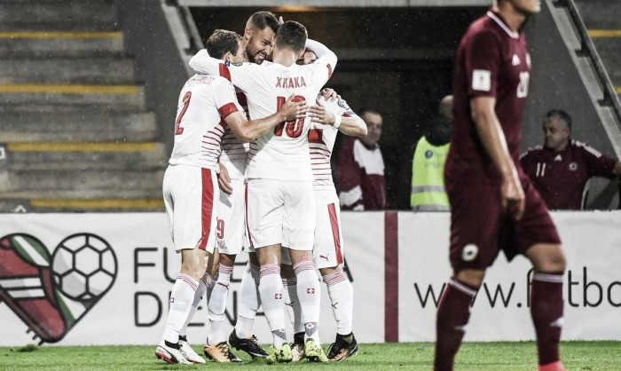 Qualificazioni Russia 2018 - Svizzera, otto su otto: tutto facile in Lettonia (0-3)