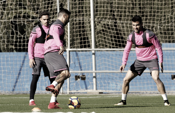 Entrenamiento de cara al partido frente al Athletic Club