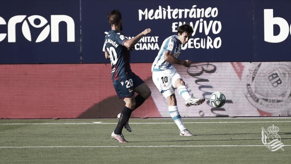 Real Sociedad cede empate ao Levante e segue fora da zona de ligas europeias