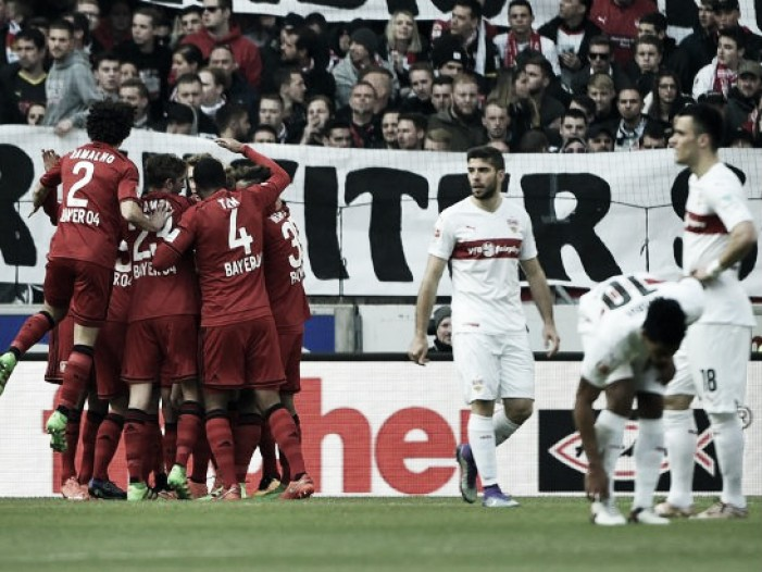 VfB Stuttgart 0-2 Bayer Leverkusen: Bellarabi and Brandt seal three points