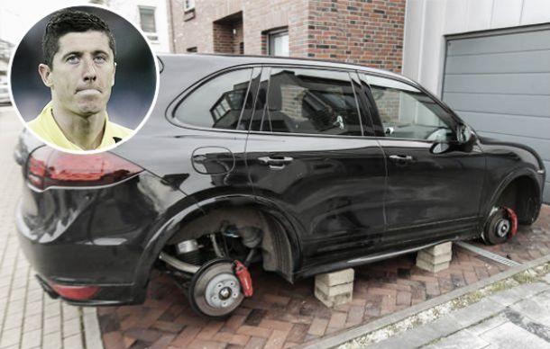 Robert Lewandowski tem os quatro pneus de seu carro roubados