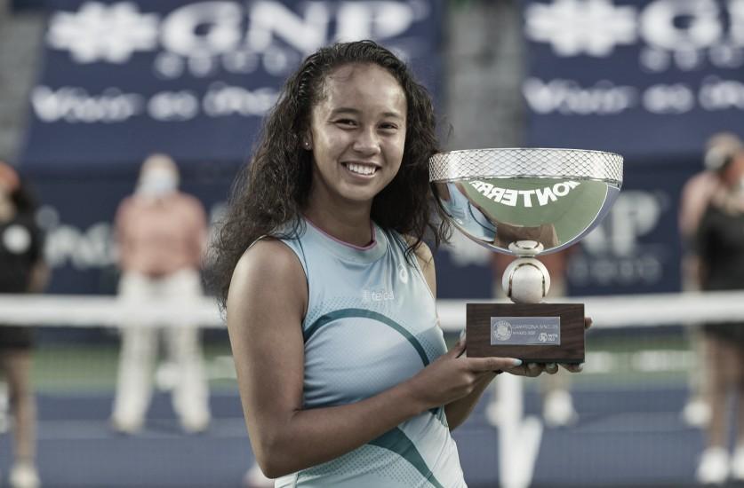 Leylah Fernández logra su primer torneo WTA en Monterrey