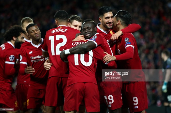Liverpool v Spartak Moscow - Confirmed lineups - Klopp fields full strength side