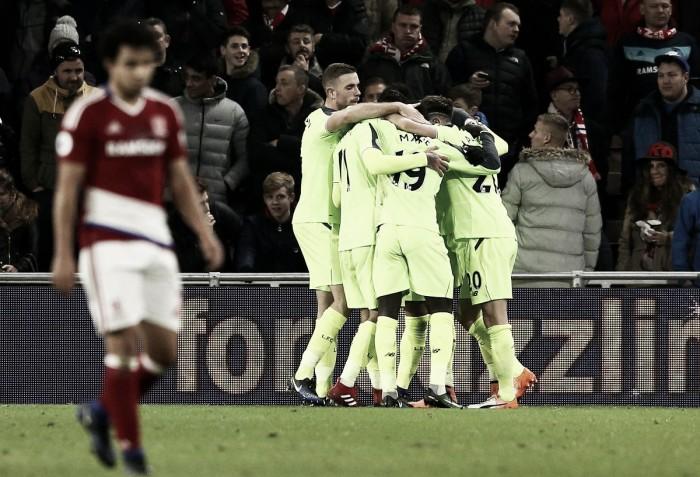 Premier League - Sané illumina, Lallana ed Origi puniscono: il Liverpool schianta il Middlesbrough (0-3)