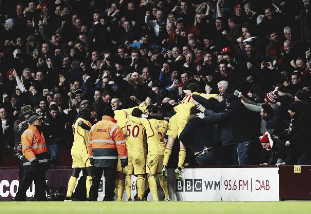 Aston Villa 0-2 Liverpool: Resilient Reds hang in for three points