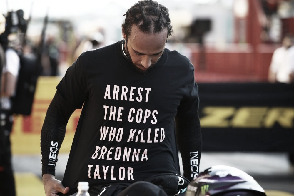 Lewis Hamilton pode ser punido pela FIA por pedir prisão de policiais do caso Breonna