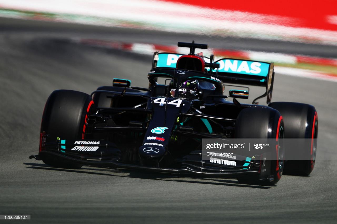One session each as Lewis Hamilton tops Valterri Bottas at Spanish GP FP2