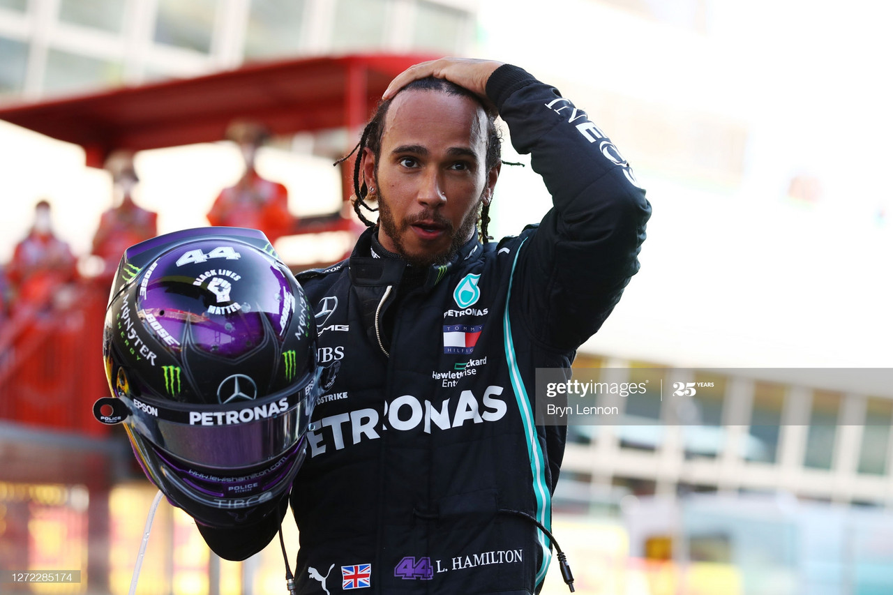 Tuscan GP - Hamilton secures 90th win, as carnage ensues