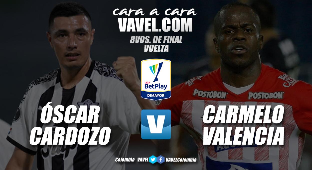 Cara a cara: Óscar Cardozo vs Carmelo Valencia