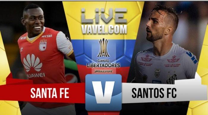 Santa Fe y Santos empataron 0-0 en la tercera fecha de la Copa Libertadores.