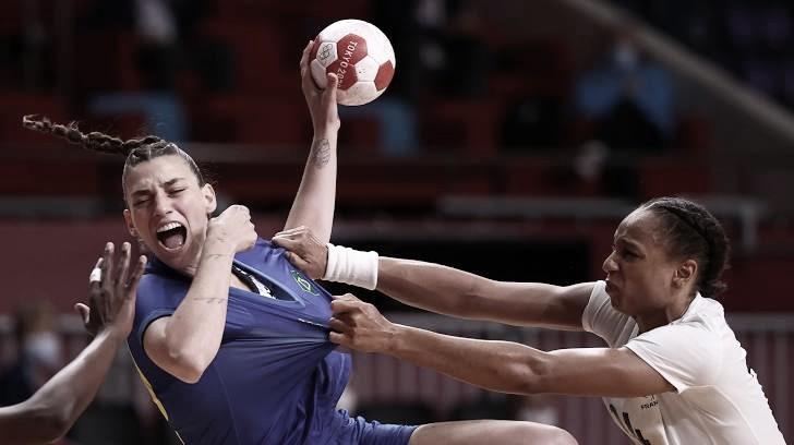 Brasil é derrotado para França no handebol feminino e está eliminado das Olimpíadas