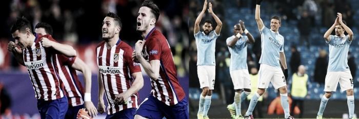 Liga dos Campeões: City segura, Simeone suou