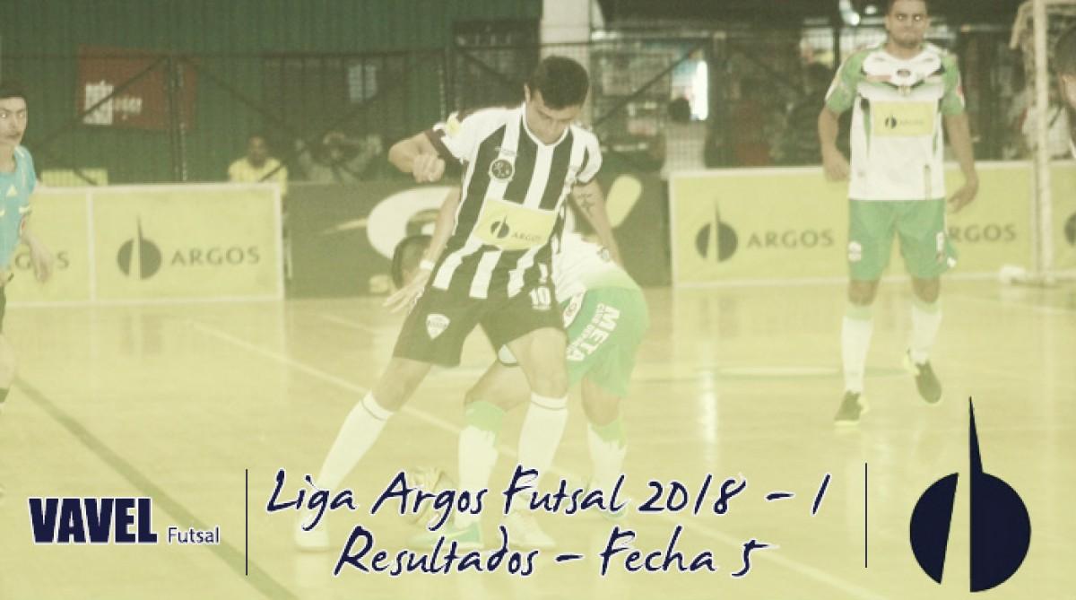 Resumen de la fecha 5 de la Liga Argos Futsal 2018-I