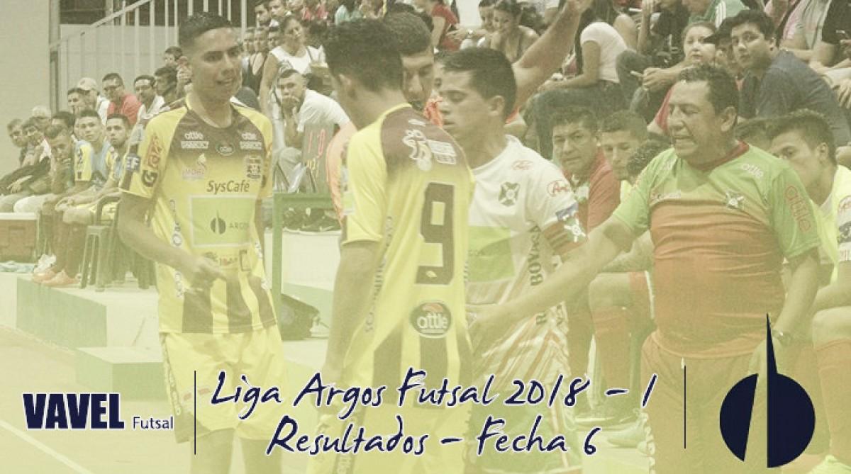Liga Argos Futsal 2018-I: Resultados de la fecha 6