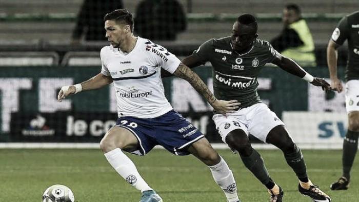 Saint-Étienne apenas empata com Strasbourg e segue longe da zona de Europa League