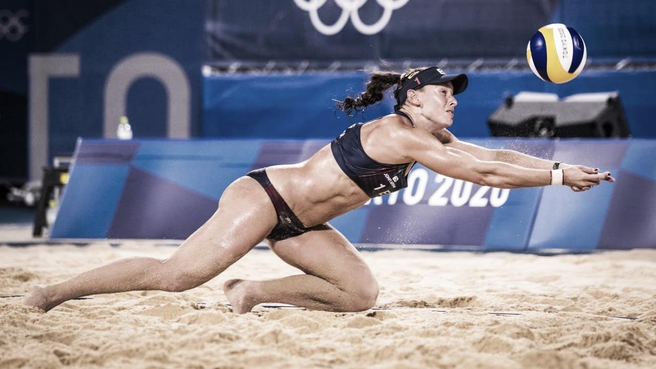 Resumen Estados Unidos 2-0 España en Vóley playa femenino en Tokyo 2020