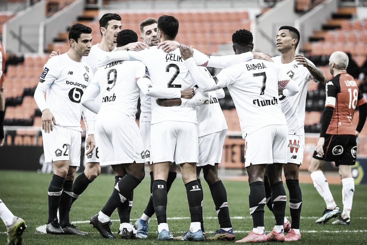 Lille goleia Lorient em pleno Moustoir