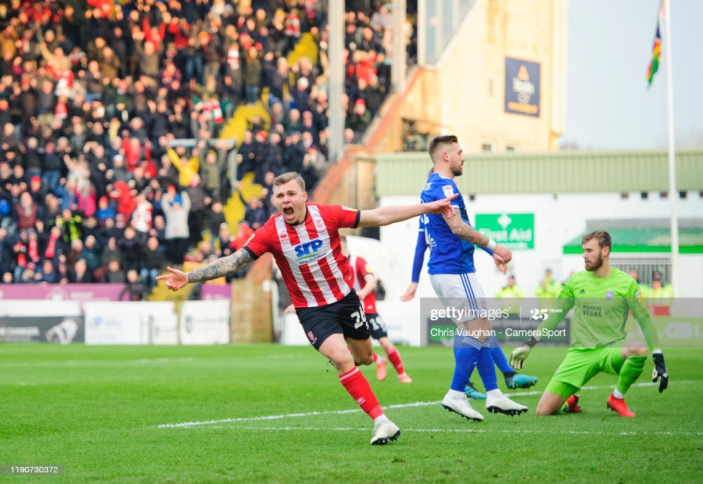 Harry Anderson celebrates scoring the opening goal against Ipswich last December.<div>Chris Vaughan - Getty Images</div>