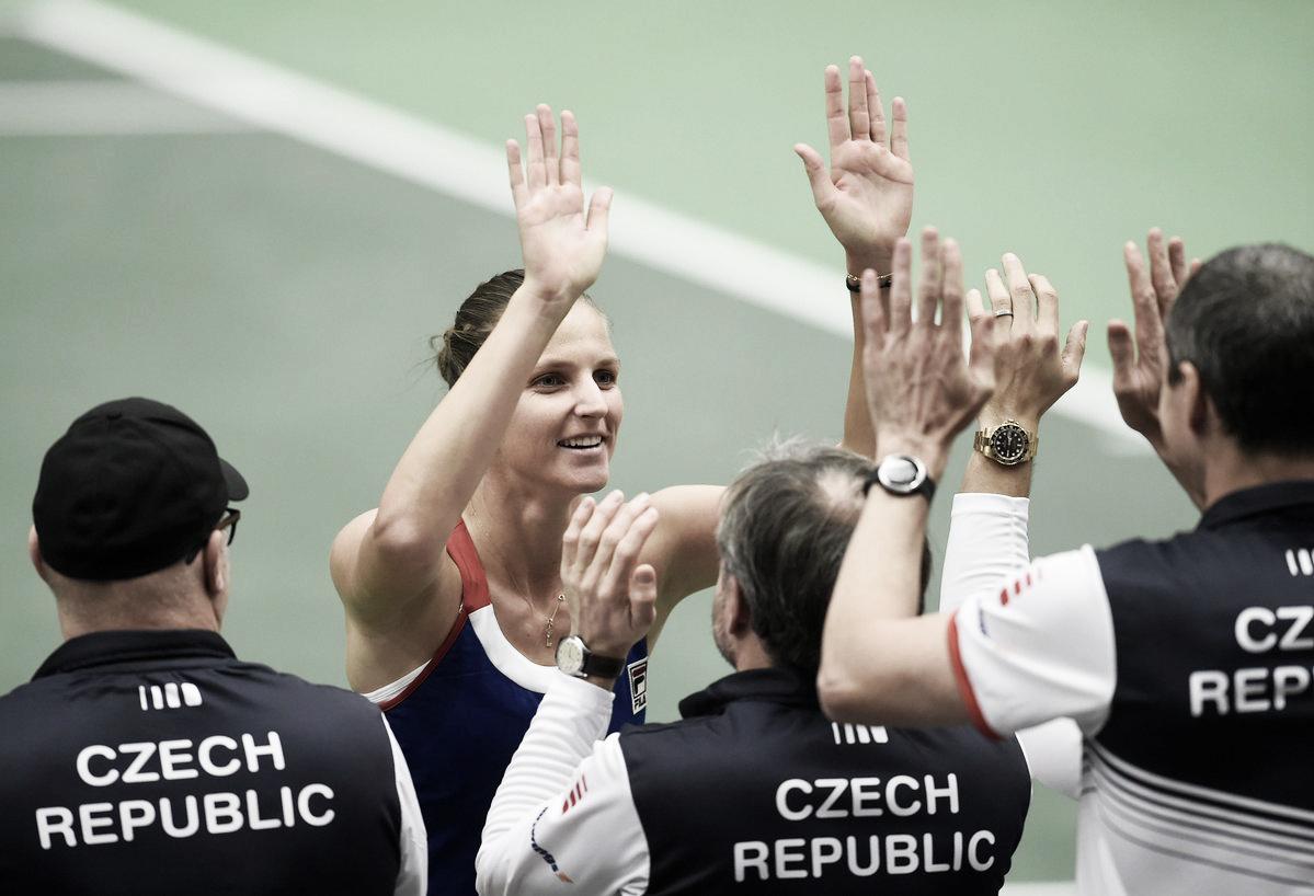 Pliskova e Halep confirmam favoritismo e deixam Rep. Tcheca e Romênia empatadas na Fed Cup
