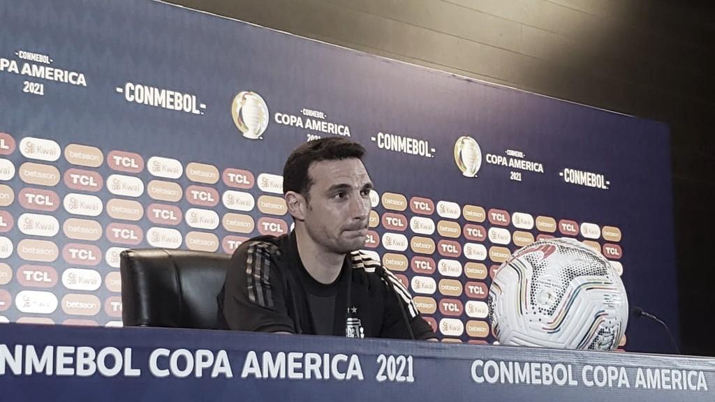 Lionel Scaloni destaca orgulho e esforço dos atletas da Argentina