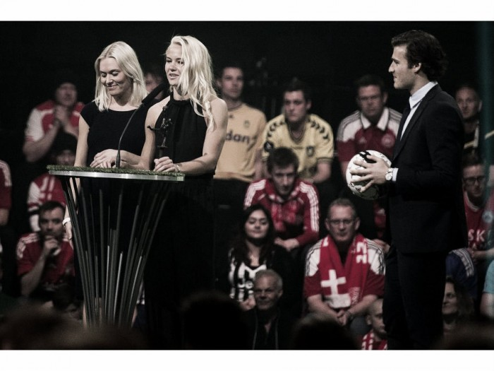 Pernille Harder and Stine Larsen win big at the Danish Football Awards