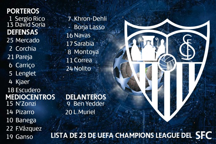 Los 23 del Sevilla para la Previa