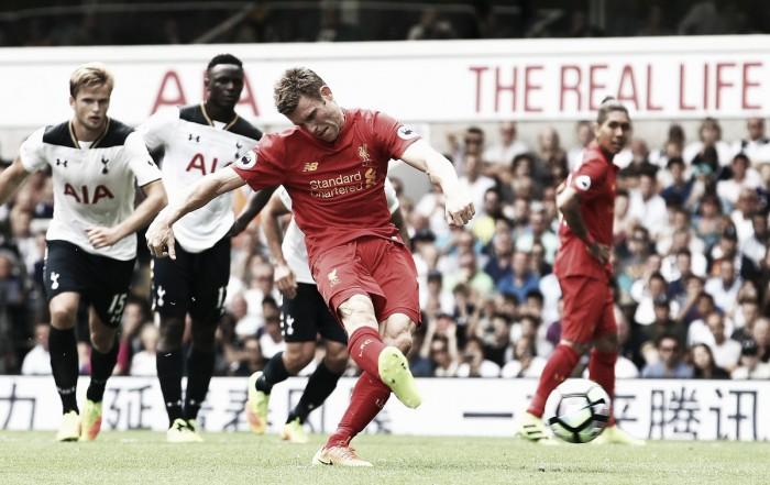 Premier League, Rose risponde a Milner: Tottenham-Liverpool 1-1